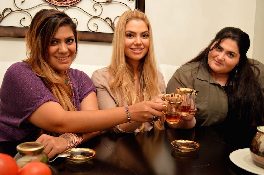Gonca, Arzu, Fusun Esendemir Enjoy Turkish Breakfast