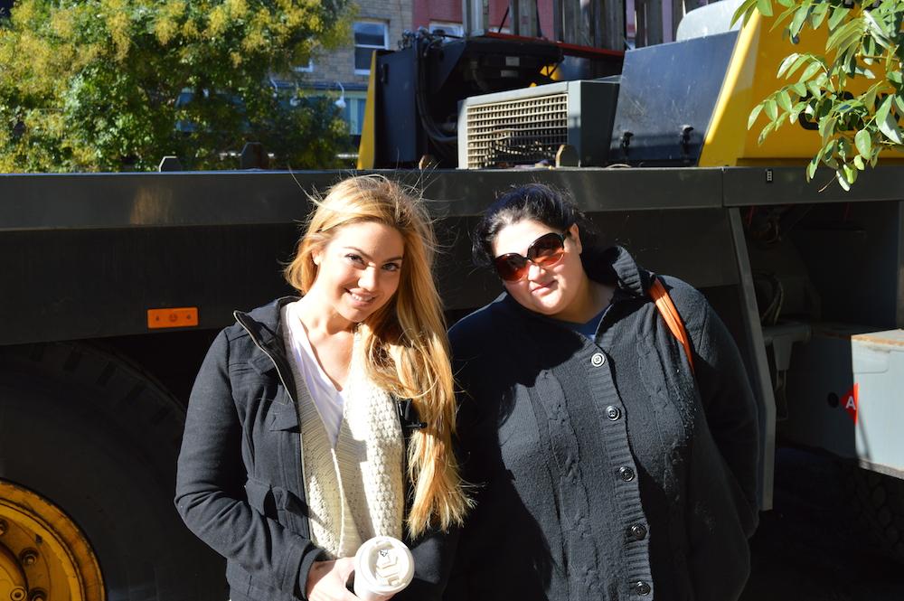 Arzu Esendemir and Fusun Esendemir Outside Flatbread Grill Hoboken NJ