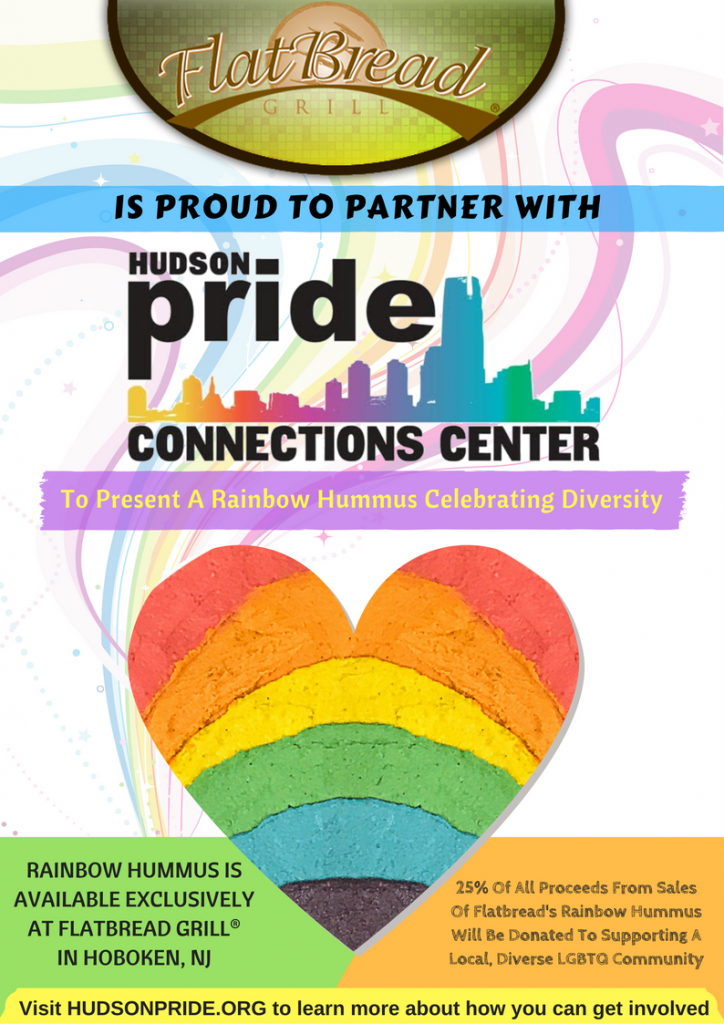 Flatbread Grill®Partners With Hudson Pride Connections Center To Create A Rainbow Hummus
